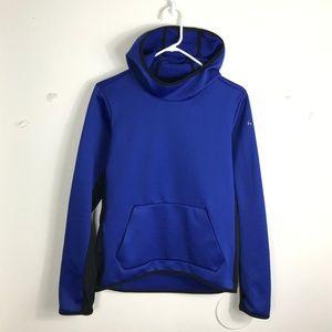 Womens Small Nike Thermafit Blue Black Logo Hoodie